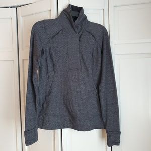 Lululemon herringbone 3/4 zip up long sleeve